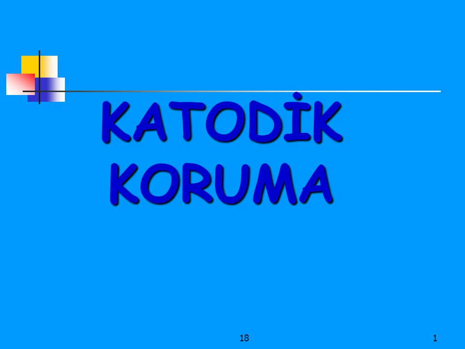KATODİK KORUMA 18