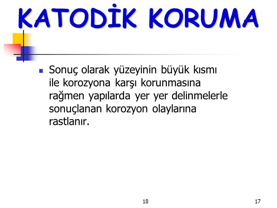KATODİK KORUMA