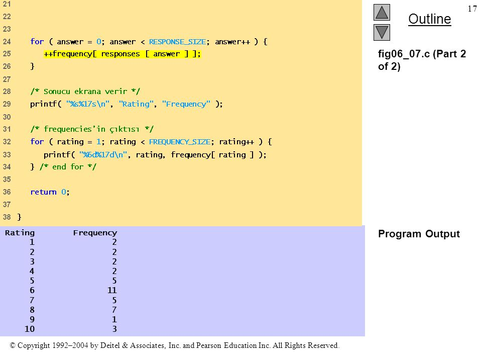 fig06_07.c (Part 2 of 2) Program Output