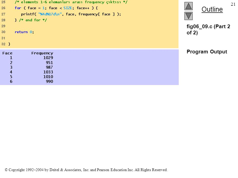 fig06_09.c (Part 2 of 2) Program Output