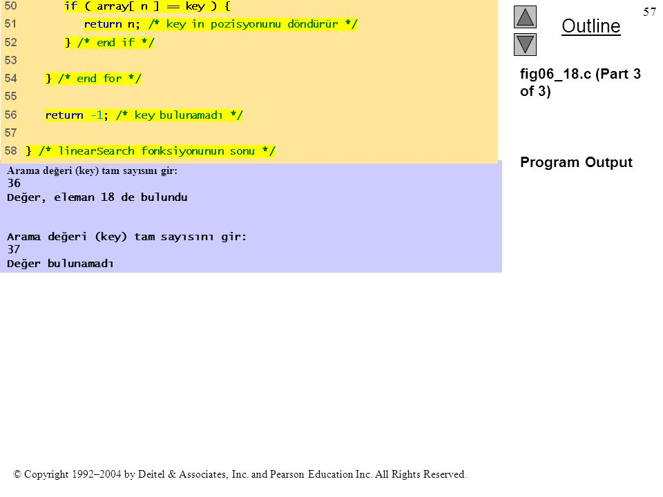 fig06_18.c (Part 3 of 3) Program Output