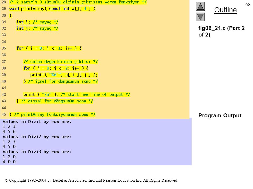 fig06_21.c (Part 2 of 2) Program Output