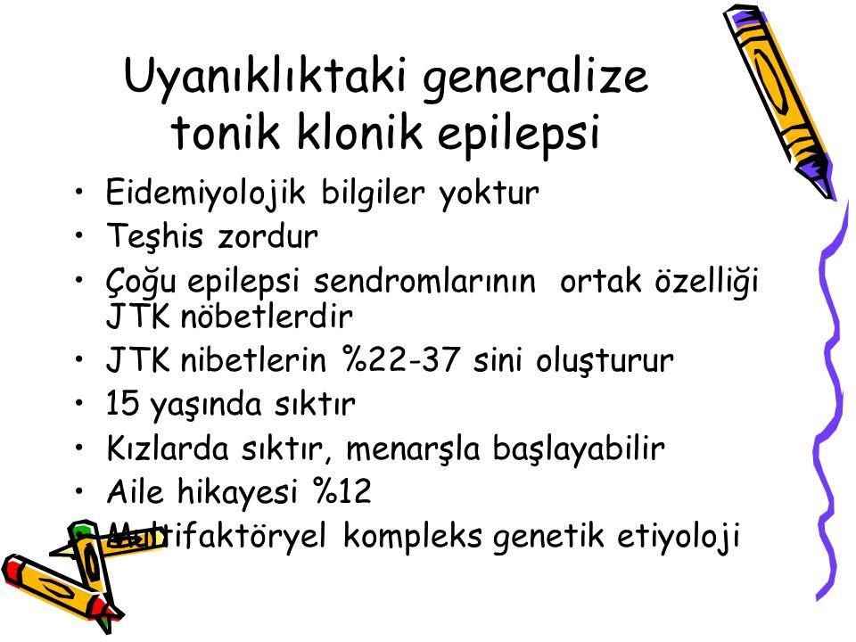 Uyanıklıktaki generalize tonik klonik epilepsi