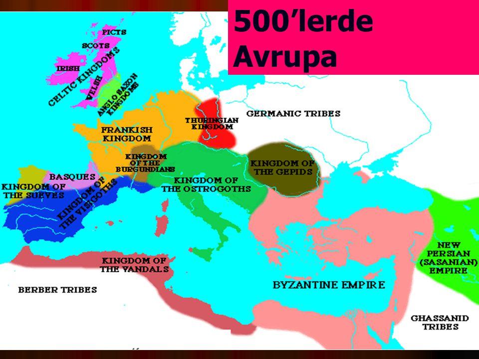 500'lerde Avrupa