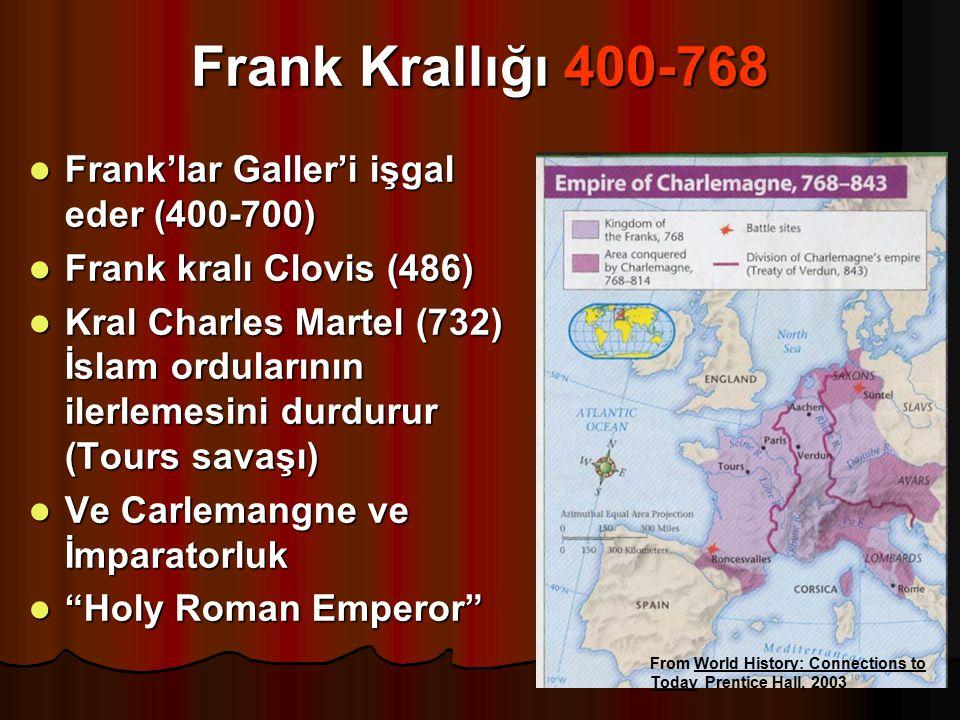 Frank Krallığı 400-768 Frank'lar Galler'i işgal eder (400-700)