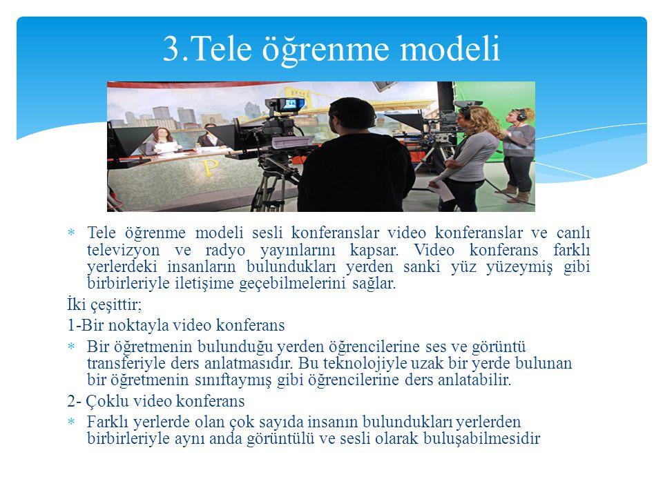 3.Tele öğrenme modeli