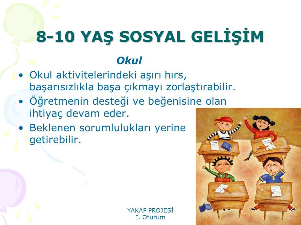 8-10 YAŞ SOSYAL GELİŞİM Okul
