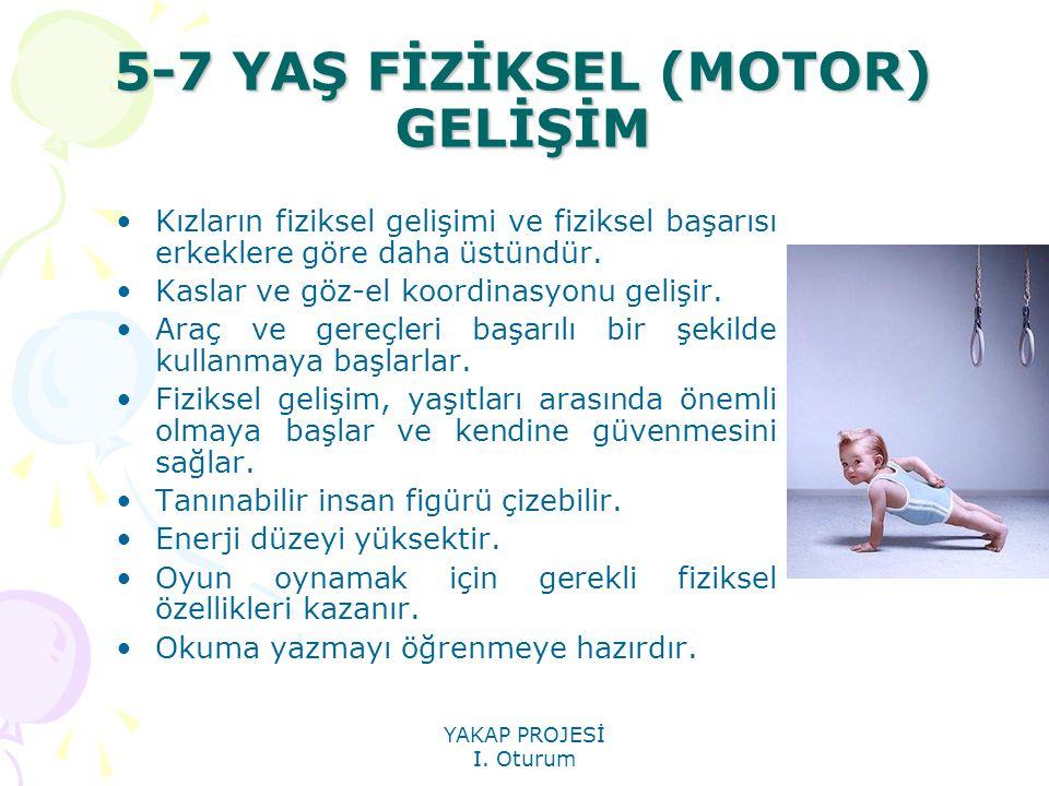 5-7 YAŞ FİZİKSEL (MOTOR) GELİŞİM