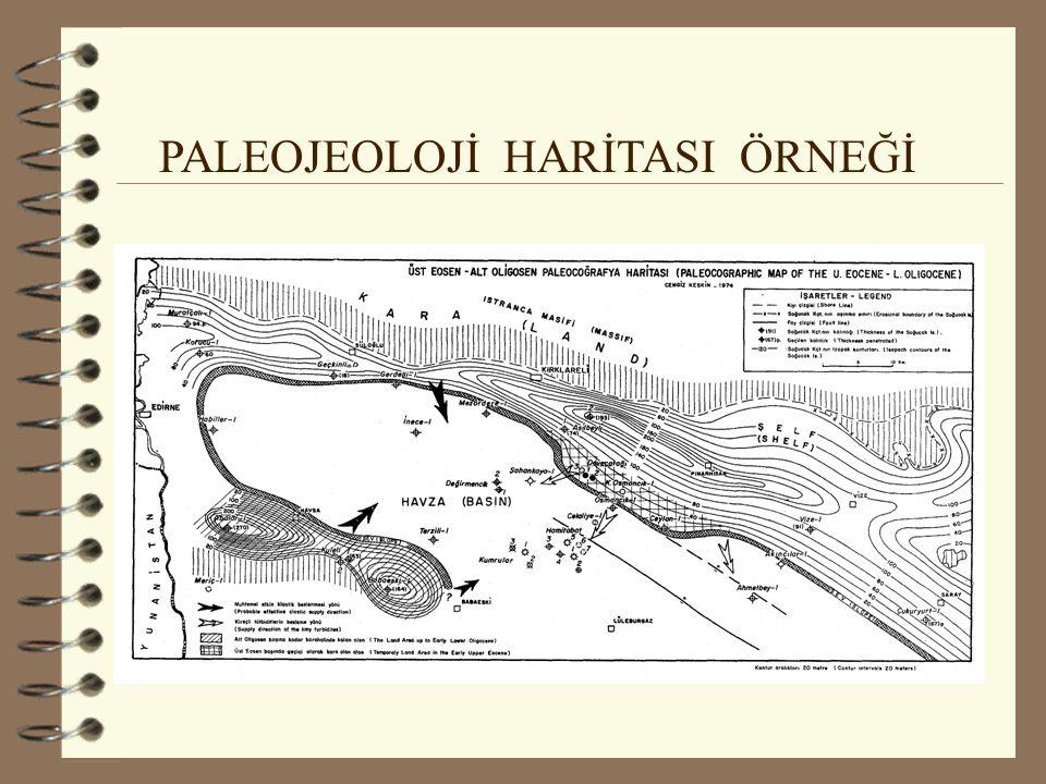 PALEOJEOLOJİ HARİTASI ÖRNEĞİ