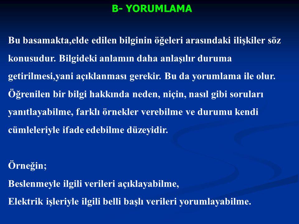 B- YORUMLAMA