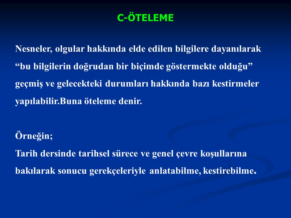 C-ÖTELEME