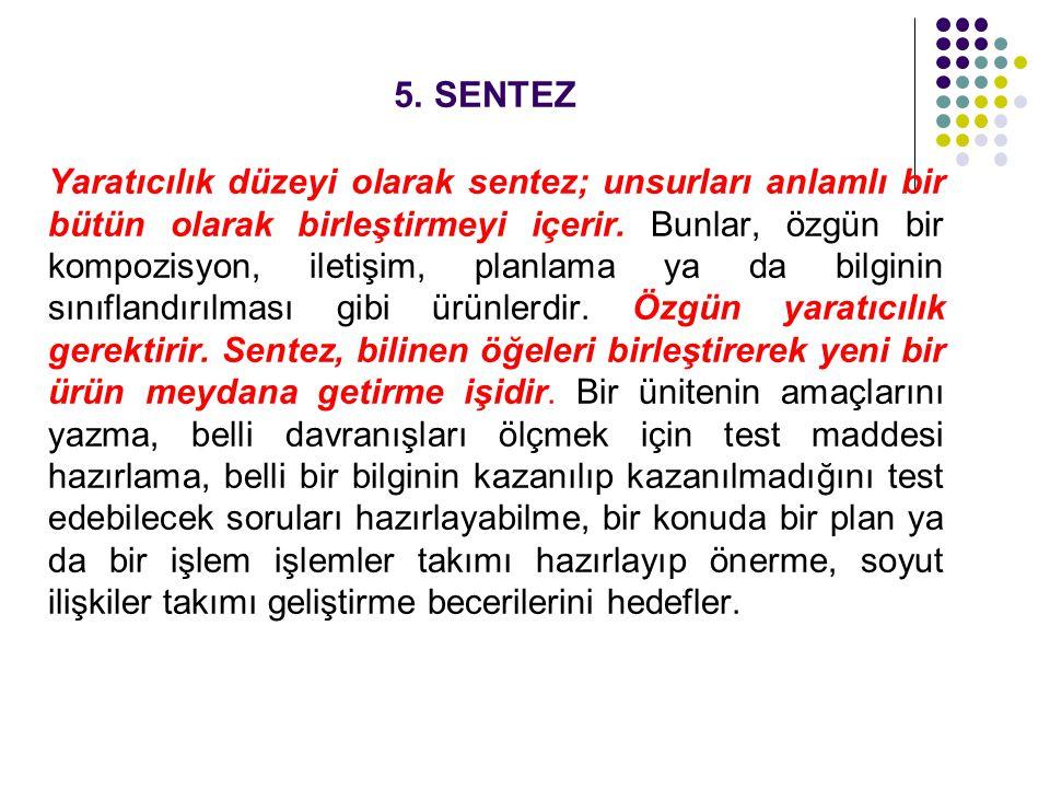 5. SENTEZ