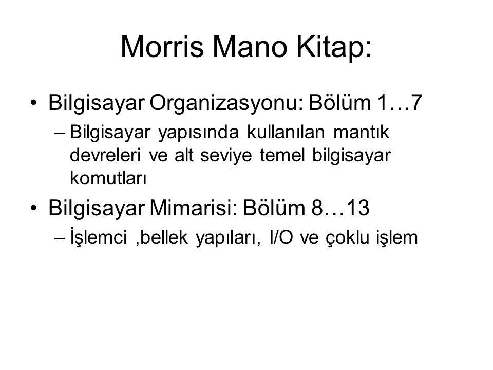 Morris Mano Kitap: Bilgisayar Organizasyonu: Bölüm 1…7
