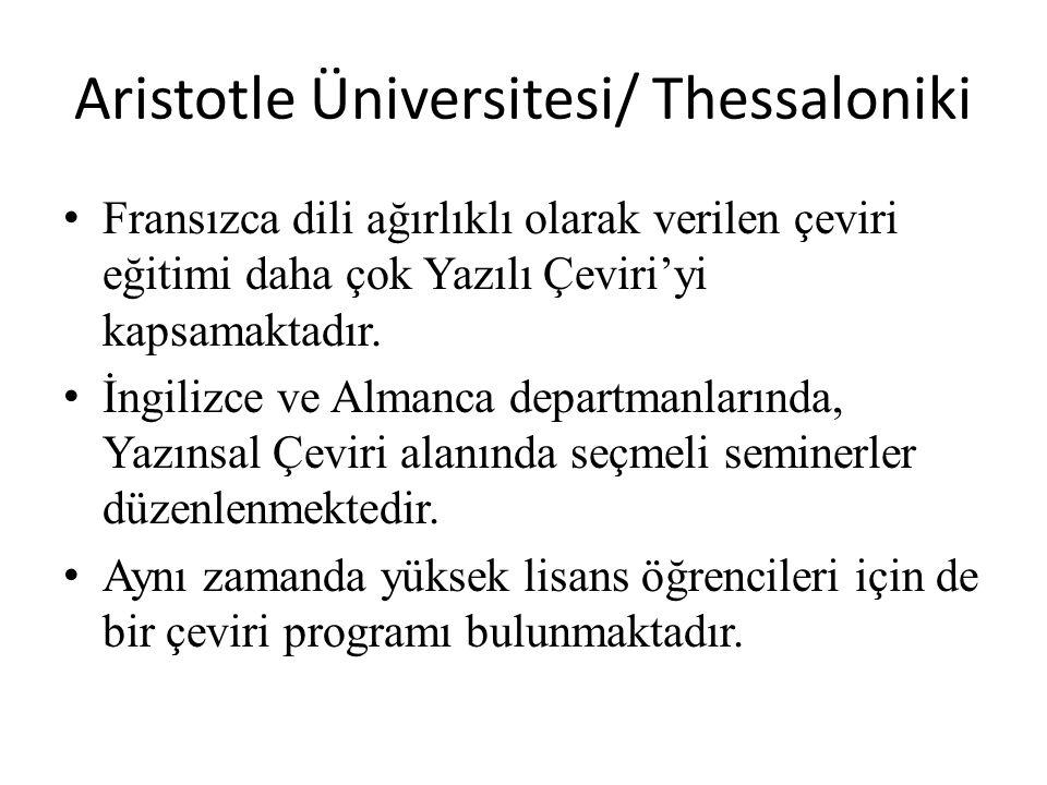 Aristotle Üniversitesi/ Thessaloniki
