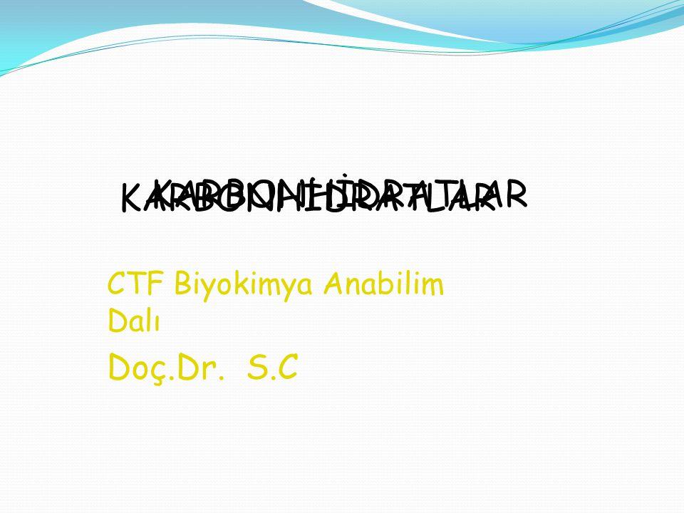 CTF Biyokimya Anabilim Dalı Doç.Dr. S.C