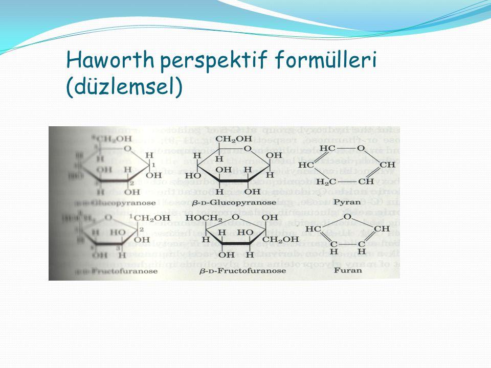 Haworth perspektif formülleri (düzlemsel)
