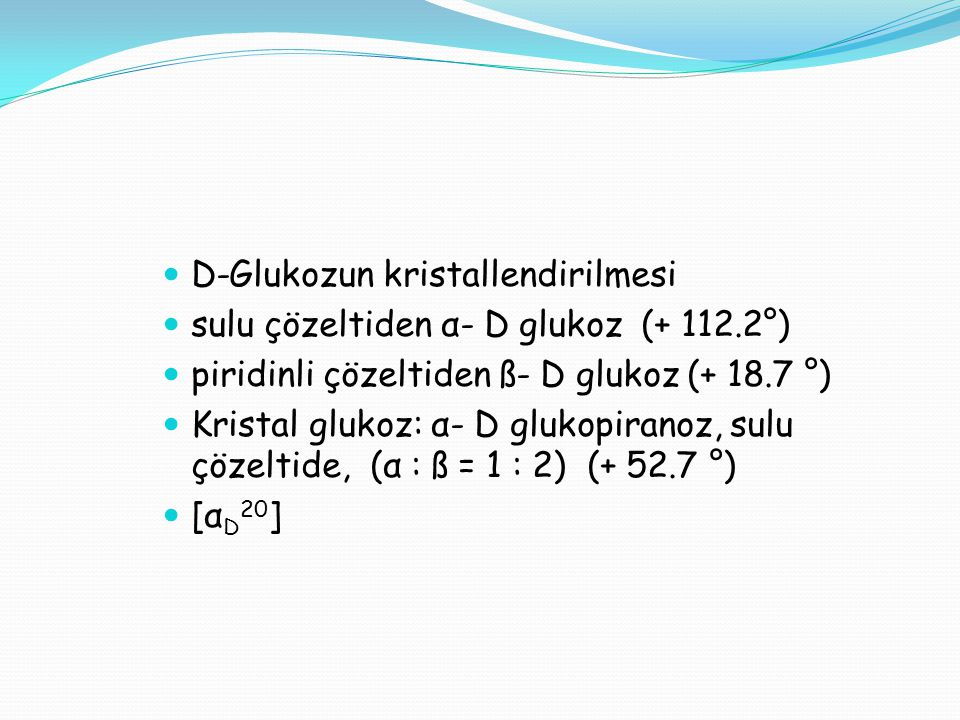 D-Glukozun kristallendirilmesi