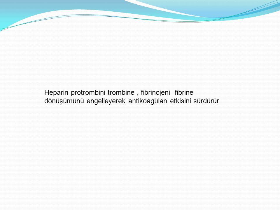 Heparin protrombini trombine , fibrinojeni fibrine