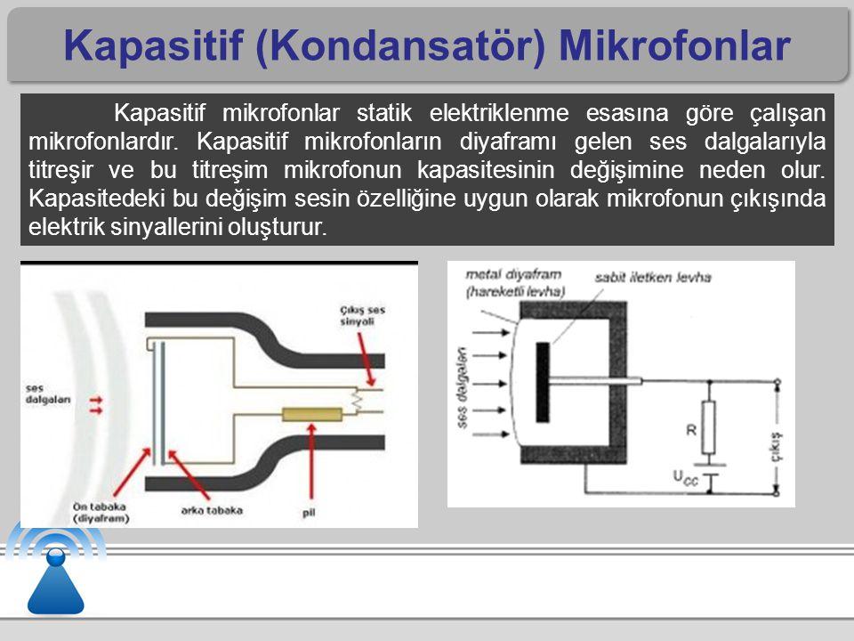Kapasitif (Kondansatör) Mikrofonlar