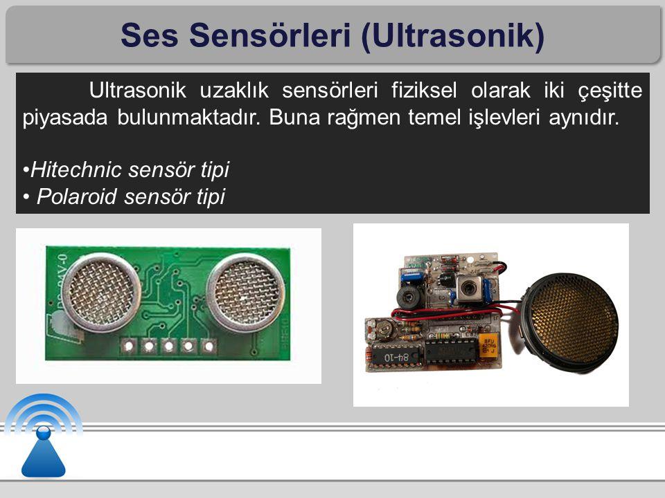 Ses Sensörleri (Ultrasonik)