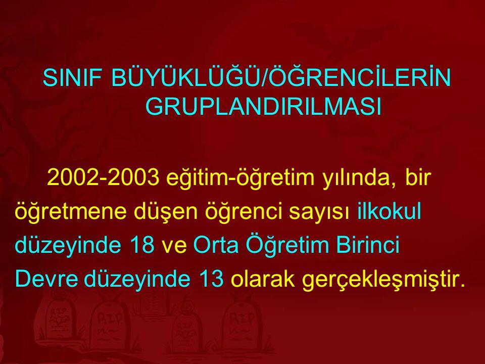 SINIF BÜYÜKLÜĞÜ/ÖĞRENCİLERİN GRUPLANDIRILMASI