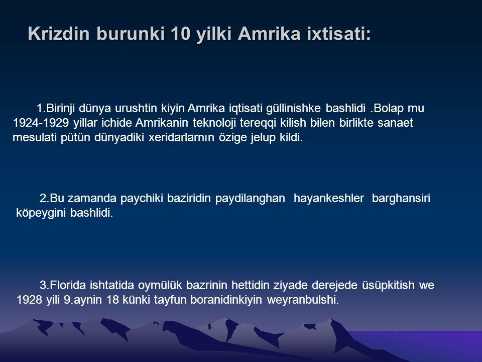 Krizdin burunki 10 yilki Amrika ixtisati:
