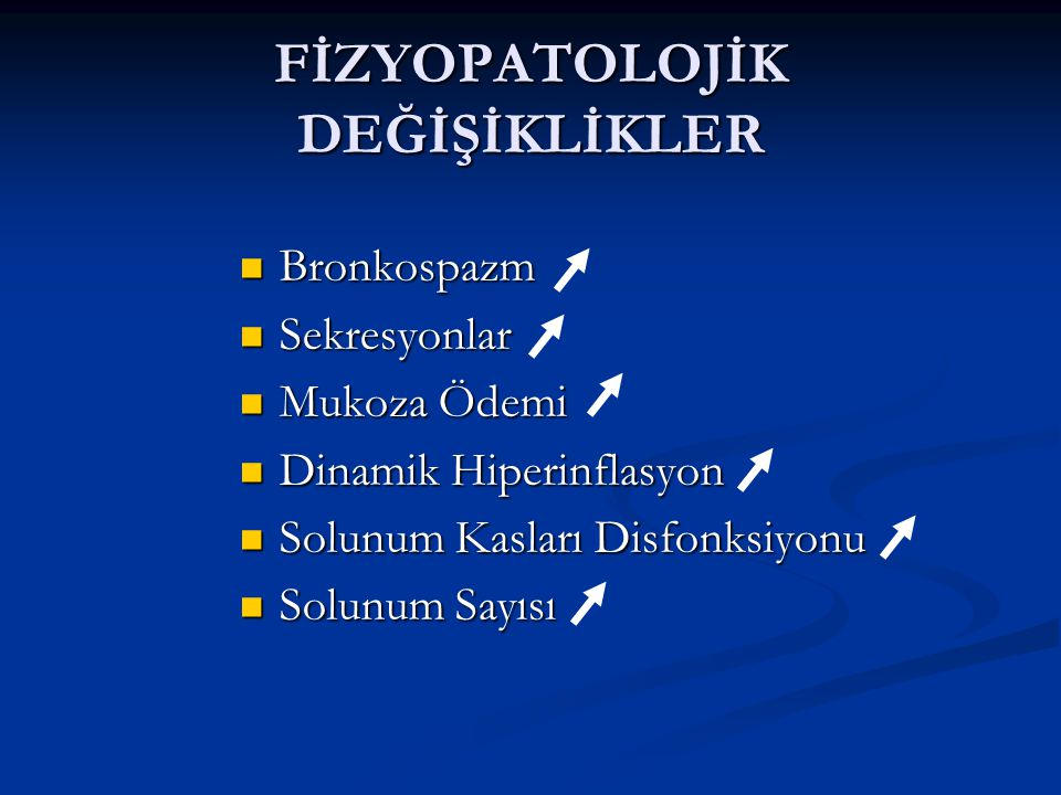FİZYOPATOLOJİK DEĞİŞİKLİKLER