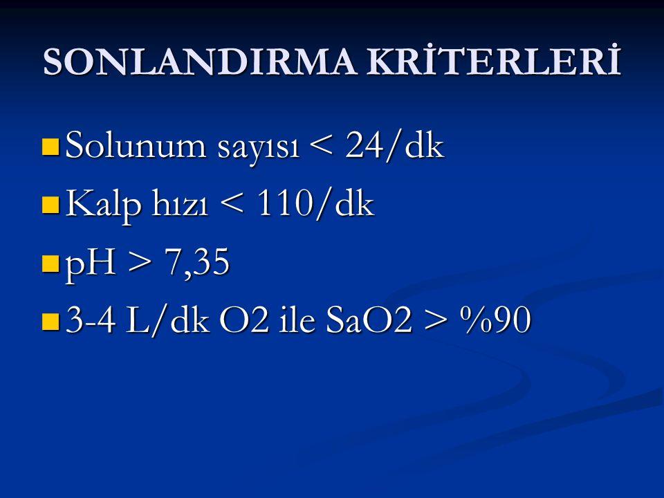 SONLANDIRMA KRİTERLERİ