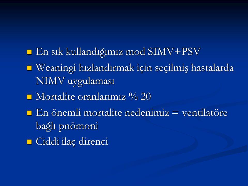 En sık kullandığımız mod SIMV+PSV