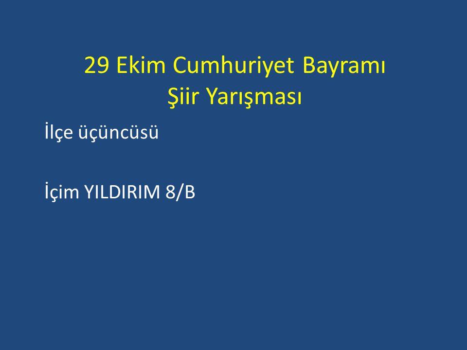 29 Ekim Cumhuriyet Bayramı Şiir Yarışması