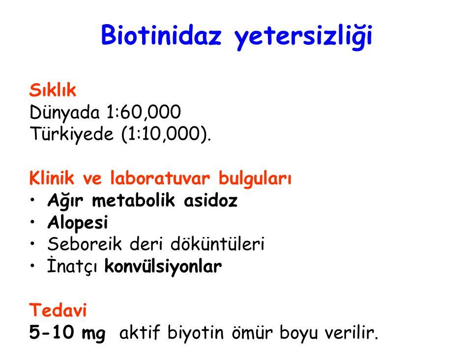 Biotinidaz yetersizliği