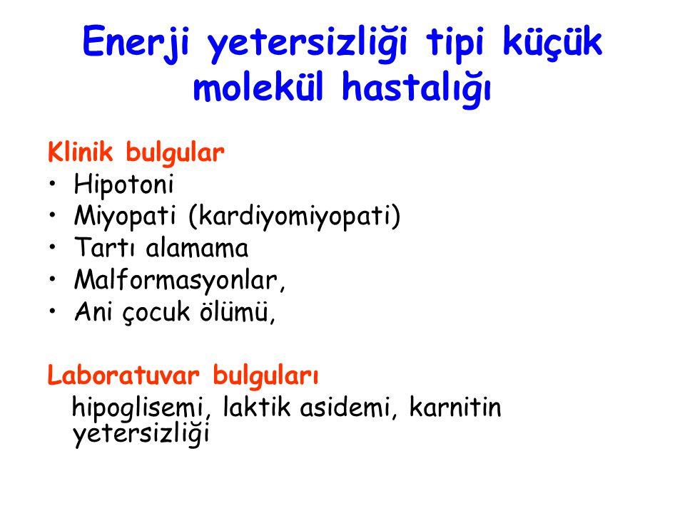 Enerji yetersizliği tipi küçük molekül hastalığı