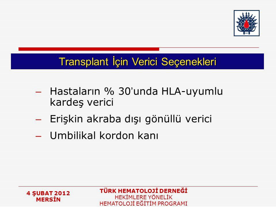 Transplant İçin Verici Seçenekleri