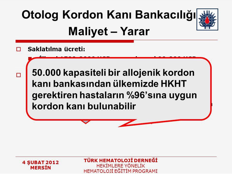 Otolog Kordon Kanı Bankacılığı
