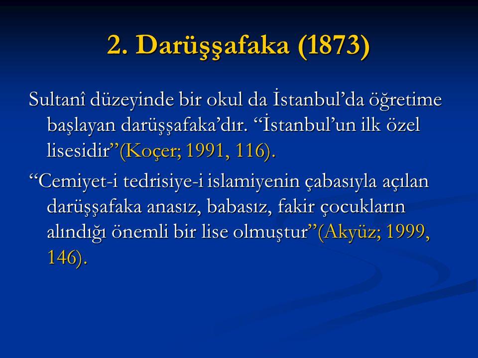 2. Darüşşafaka (1873)