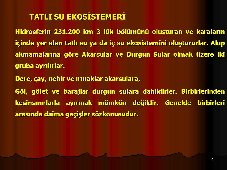 TATLI SU EKOSİSTEMERİ