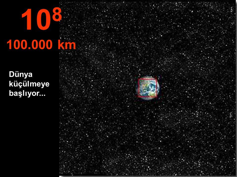 108 100.000 km Dünya küçülmeye başlıyor...