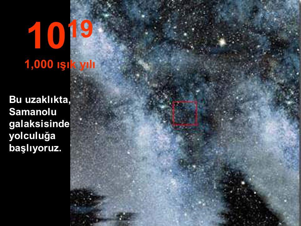 1019 1,000 ışık yılı Bu uzaklıkta, Samanolu galaksisinde yolculuğa başlıyoruz.