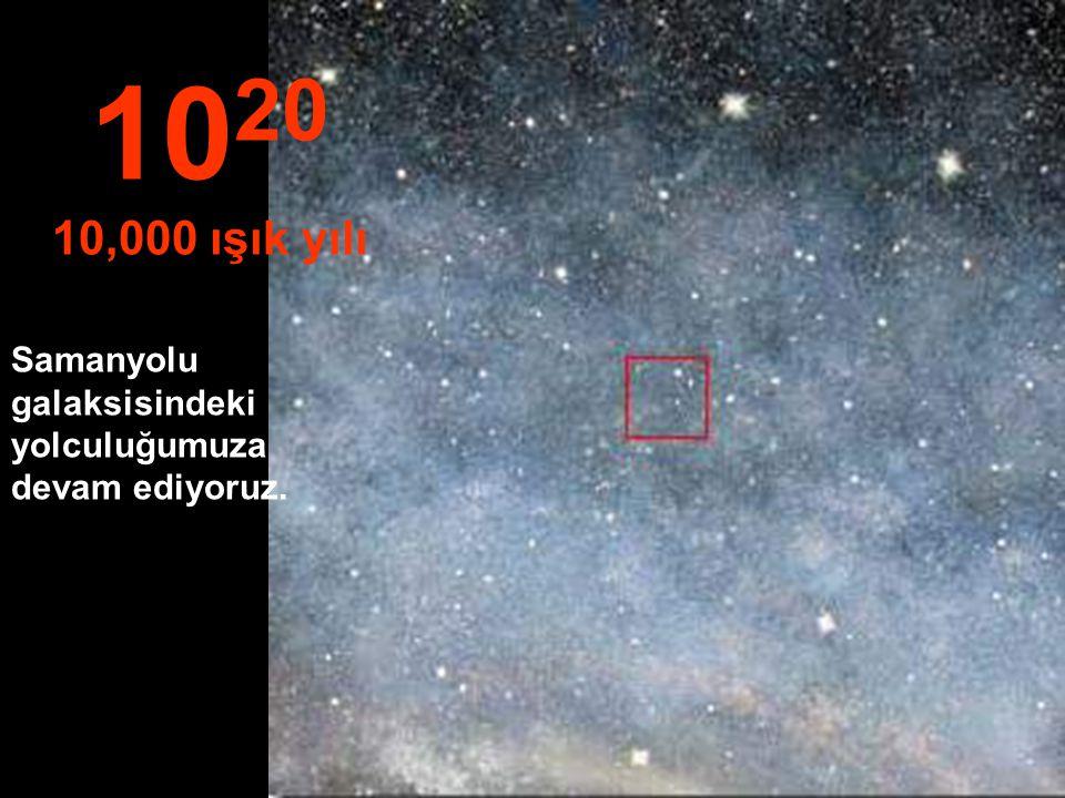 1020 10,000 ışık yılı Samanyolu galaksisindeki yolculuğumuza devam ediyoruz.
