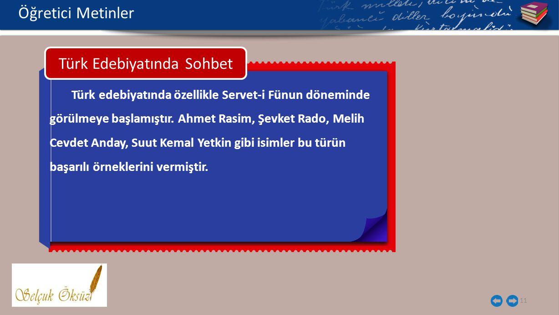 Türk Edebiyatında Sohbet