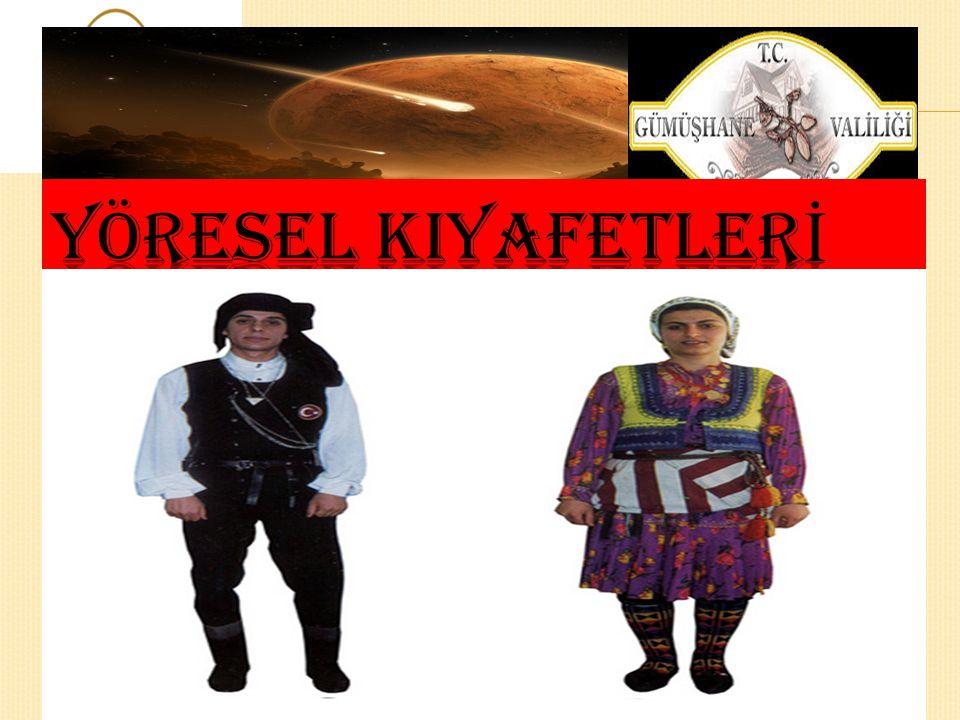 YÖRESEL KIYAFETLERİ