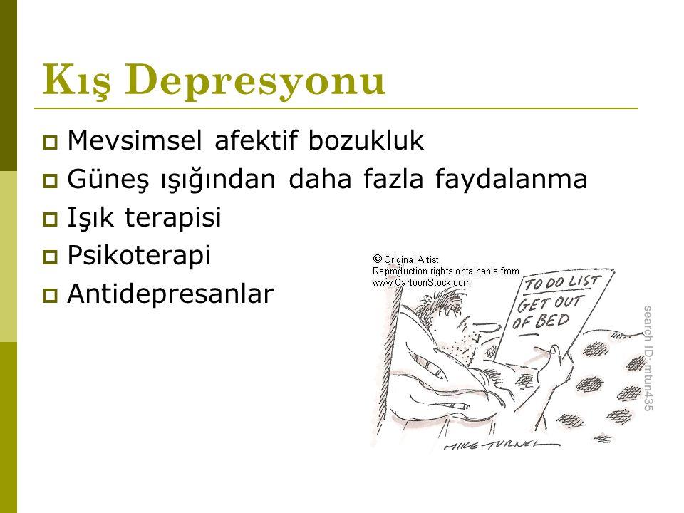 Kış Depresyonu Mevsimsel afektif bozukluk