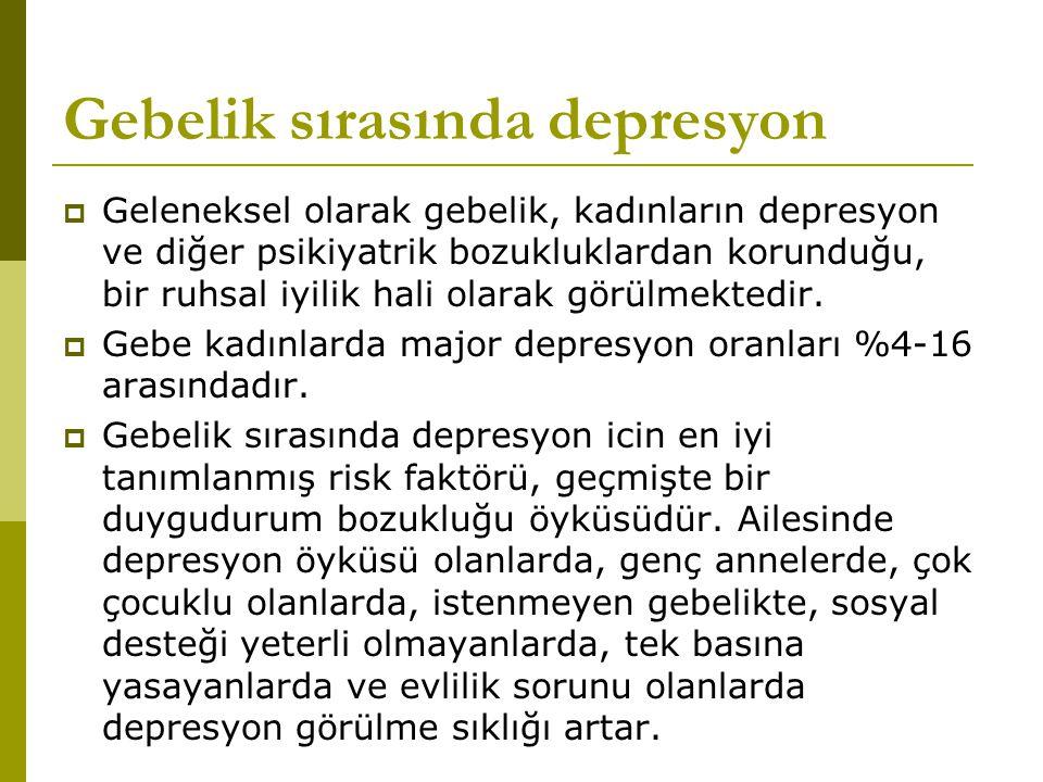 Gebelik sırasında depresyon