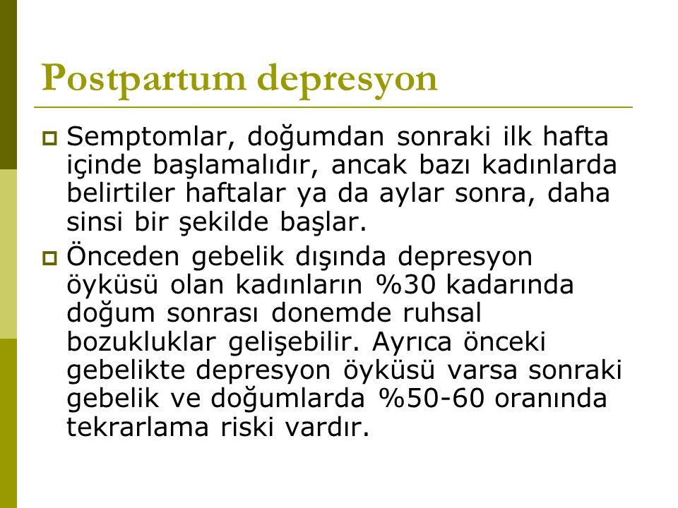 Postpartum depresyon