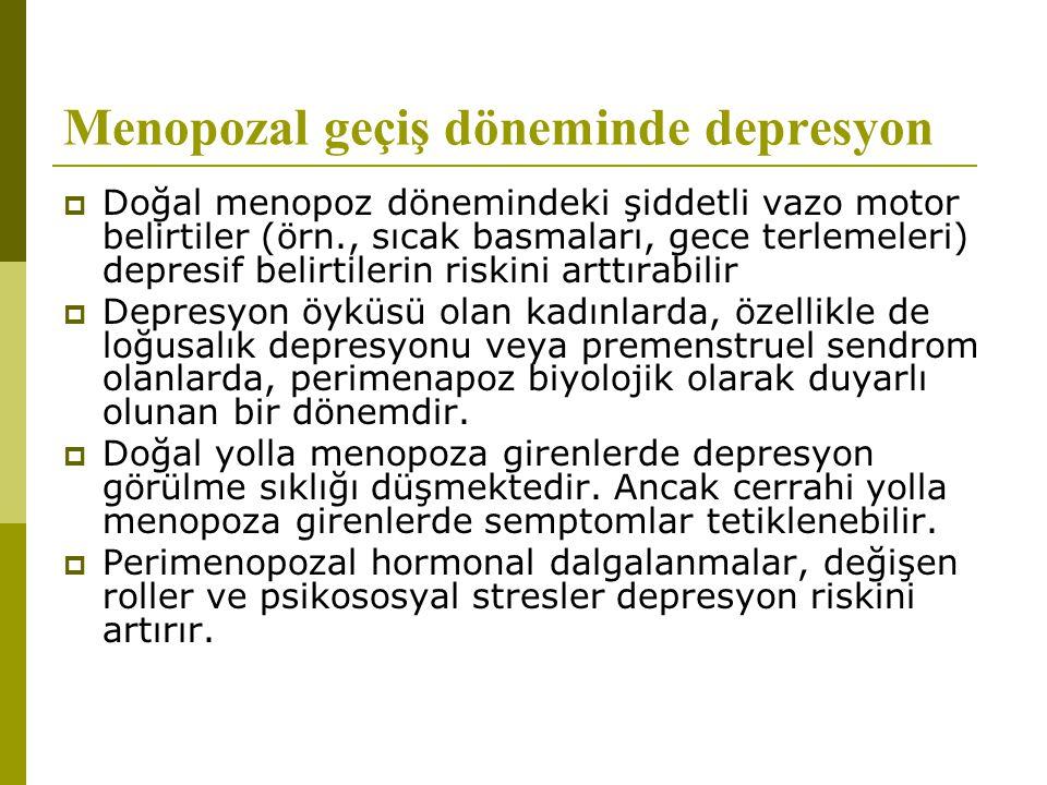 Menopozal geçiş döneminde depresyon