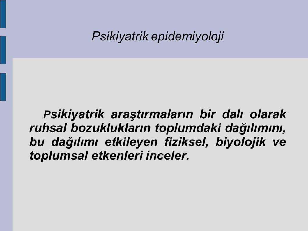 Psikiyatrik epidemiyoloji