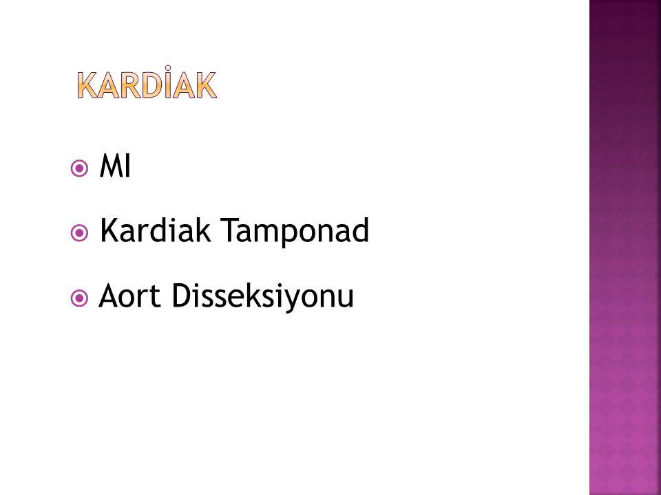 KARDİAK MI Kardiak Tamponad Aort Disseksiyonu