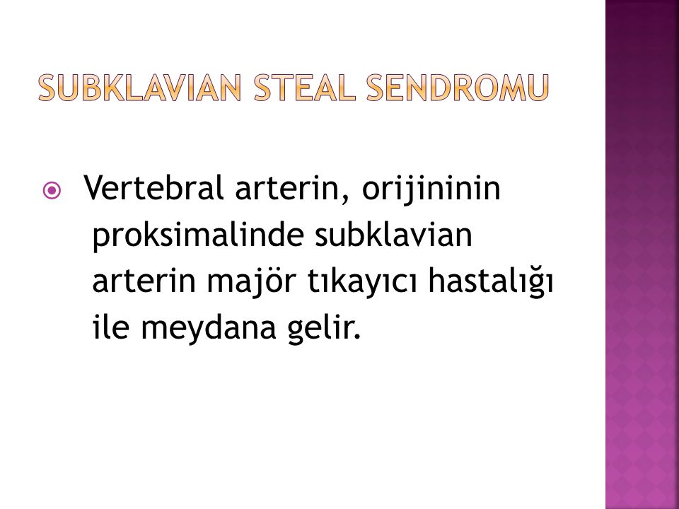 Subklavian steal sendromu