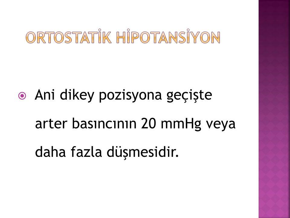 ORTOSTATİK HİPOTANSİYON