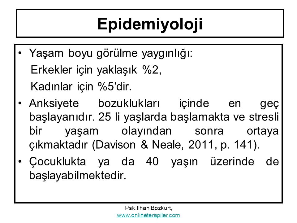Psk.İlhan Bozkurt, www.onlineterapiler.com